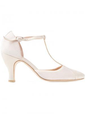 Туфли с т-ремешком Baya Repetto. Цвет: металлический