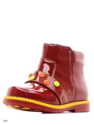 Ботинки San Marko. Цвет: красный