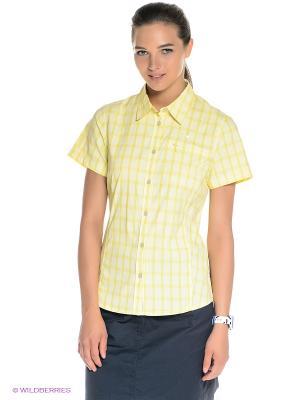 Рубашка CENTAURA STRETCH VENT SHIRT W Jack Wolfskin. Цвет: желтый