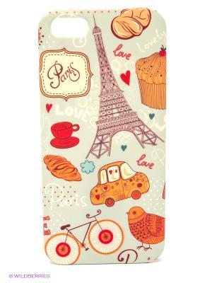 Чехол для IPhone 5 Сладкий Париж Mitya Veselkov. Цвет: красный, светло-зеленый
