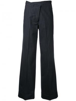 Полосатые брюки Monse. Цвет: чёрный