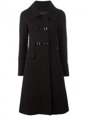 Двубортное пальто Herno. Цвет: чёрный