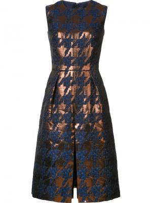 Платье в ломаную клетку Martin Grant. Цвет: коричневый