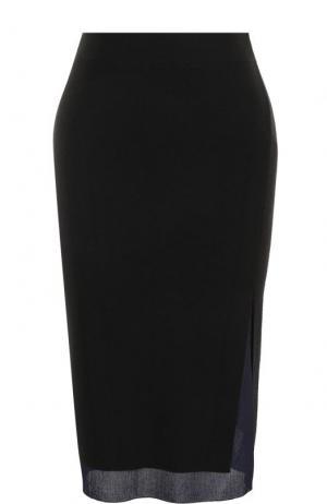 Шерстяная юбка-миди Rag&Bone. Цвет: черный