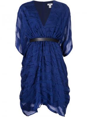 Платье с V-образным вырезом Issa. Цвет: синий