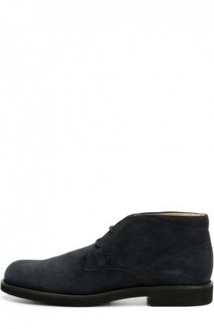 Замшевые ботинки Gomma Tod's. Цвет: темно-синий