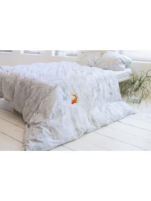 Комплект постельного белья Рыбка Бэсси 200х220см SNURK. Цвет: светло-голубой, коралловый, белый