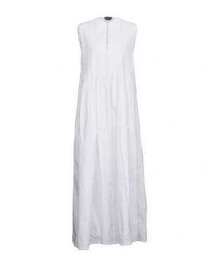 Длинное платье BALLANTYNE. Цвет: белый
