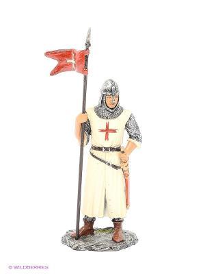 Статуэтка Рыцарь крестоносец Veronese. Цвет: серебристый, молочный, коричневый