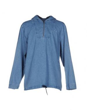 Джинсовая рубашка STUSSY. Цвет: синий
