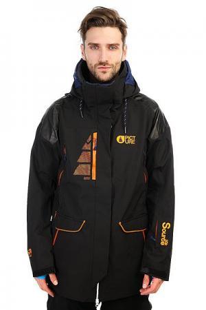 Куртка утепленная  Source Black Picture Organic. Цвет: черный