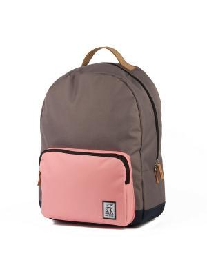 Рюкзак THE PACK SOCIETY Classic Backpack 999PCL702. Цвет: серый, розовый