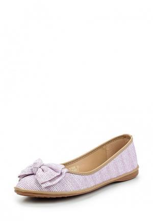 Балетки Ideal Shoes. Цвет: фиолетовый