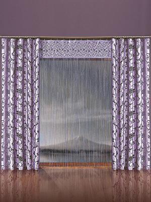Комплект штор Wisan. Цвет: фиолетовый