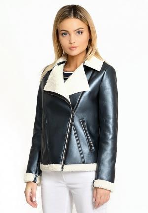 Куртка кожаная Prio. Цвет: синий