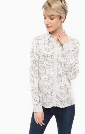 Рубашка из вискозы с цветочным принтом MORE &. Цвет: цветочный принт