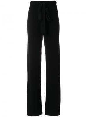 Вязаные брюки Gentry Portofino. Цвет: чёрный