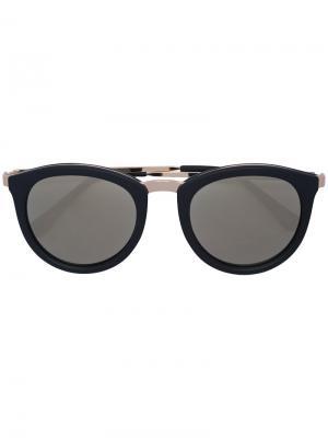 Круглые солнцезащитные очки Le Specs. Цвет: чёрный