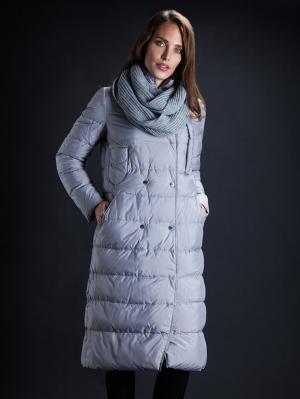 Зимняя куртка Clasna. Цвет: светло-серый