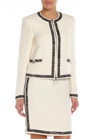 Свободный пиджак с 2-мя карманами Moschino. Цвет: молочно-черный