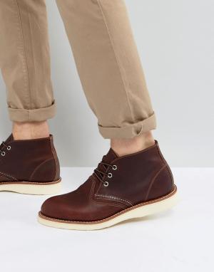 Red Wing Блестящие ботинки чукка. Цвет: коричневый