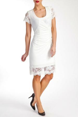 Платье Georgede. Цвет: white