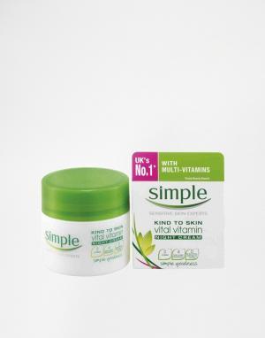 Simple Ночной крем с витаминами Kind To Skin Vital Vitamin. Цвет: kind to skin