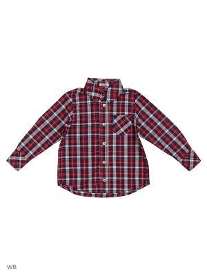 Рубашка NinoMio. Цвет: красный, белый, темно-синий, бордовый