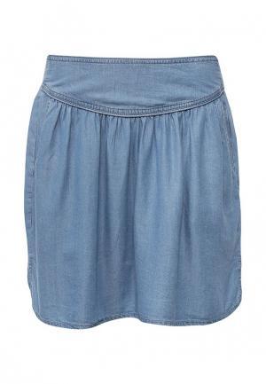 Юбка джинсовая Piazza Italia. Цвет: голубой