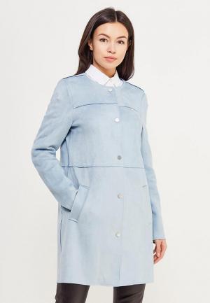 Пальто Vero Moda. Цвет: голубой
