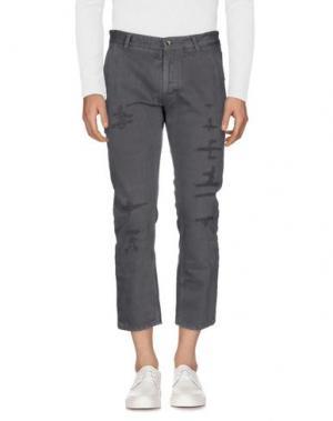 Джинсовые брюки MESSAGERIE. Цвет: свинцово-серый