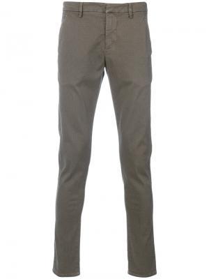 Классические брюки-чинос Dondup. Цвет: телесный