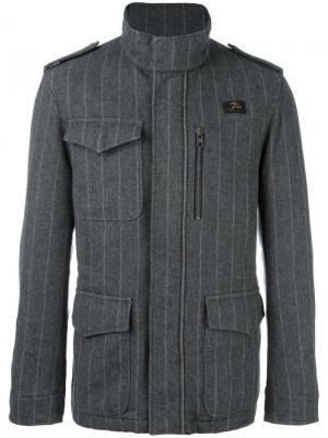 Спортивная куртка в тонкую полоску Fay. Цвет: серый