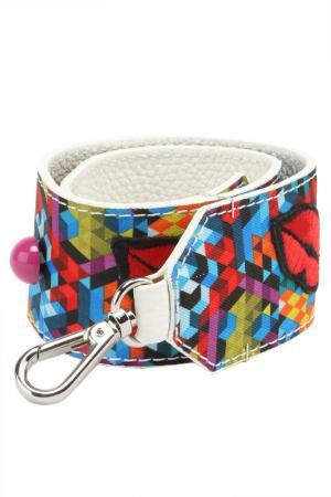 Ремень для сумки Gilda Tonelli. Цвет: белый, красный