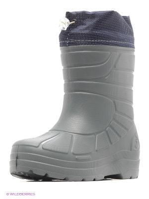 Резиновые сапоги Janett. Цвет: серо-голубой