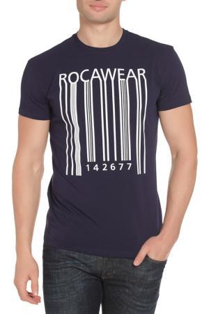 Футболка Rocawear. Цвет: темно-синий
