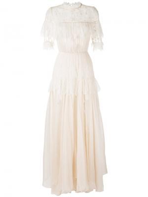 Платье Dani Maria Lucia Hohan. Цвет: телесный