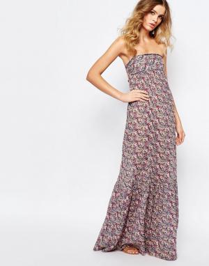 BA&SH Платье макси с открытой спиной Emelle. Цвет: мульти