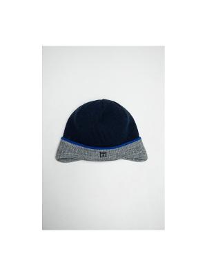 Шапка Tricotier. Цвет: синий