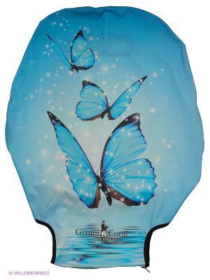 Чехол для чемодана Gianni Conti. Цвет: голубой, серо-голубой