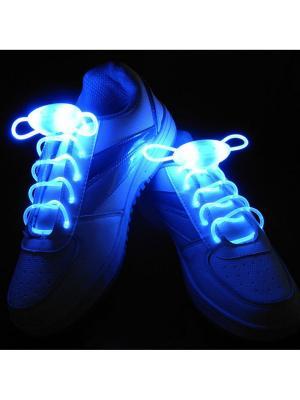 Светящиеся шнурки MoscowCycling. Цвет: синий