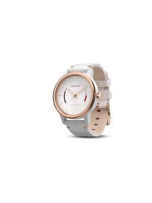 Спортивные часы Garmin vivomove Classic, розово-золотистые, кожаный ремешок [010-01597-11]. Цвет: золотистый, розовый