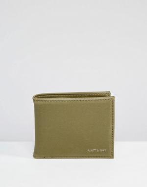 Matt & nat Бумажник Rubben. Цвет: зеленый