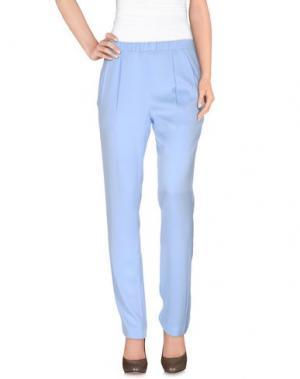 Повседневные брюки VIONNET. Цвет: небесно-голубой