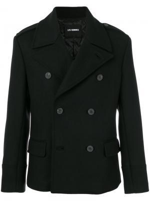 Двубортный пиджак Les Hommes. Цвет: чёрный