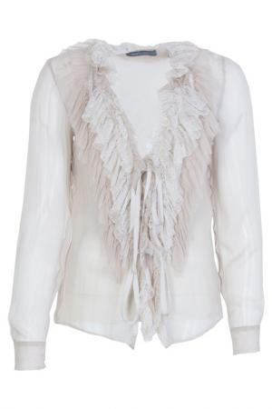 Блуза Alberta Ferretti. Цвет: бежевый