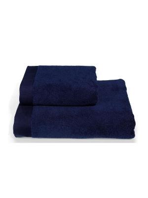 Полотенце махровое 100х150 синий TOALLA. Цвет: синий