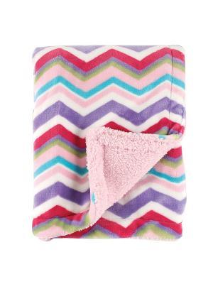 Плед Графическая радуга Hudson Baby. Цвет: розовый, малиновый, фиолетовый