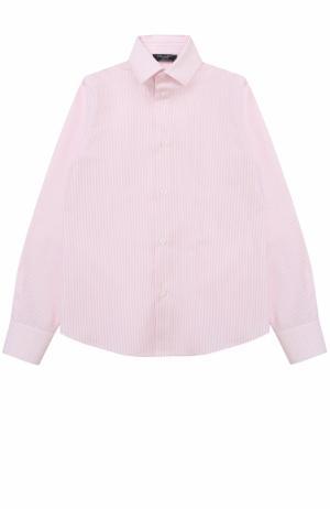 Хлопковая рубашка прямого кроя Dal Lago. Цвет: розовый
