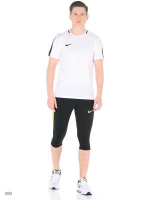 Тайтсы M NK DRY SQD PANT 3/4 KP Nike. Цвет: черный, салатовый